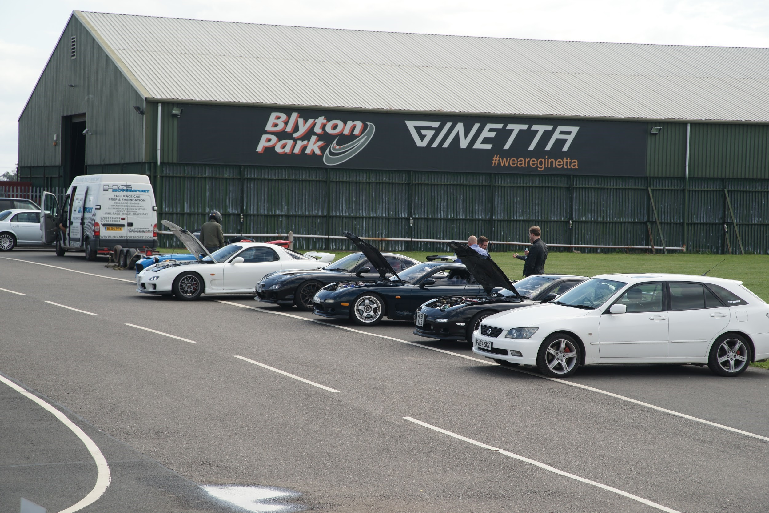 Mazda FD's at the track